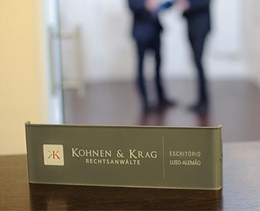 Büroschild Kohnen & Krag